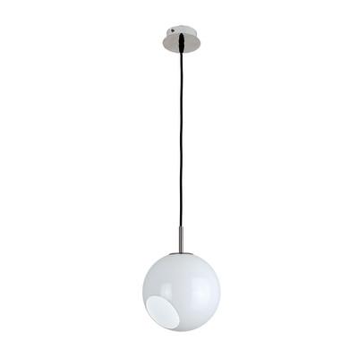 Lampadario Luna bianco, in vetro, diam. 20 cm, E27 MAX42W IP20