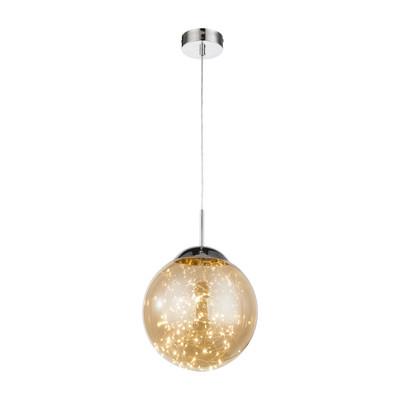 Lampadario Manam ambra, in vetro, LED integrato 12W 836LM IP20
