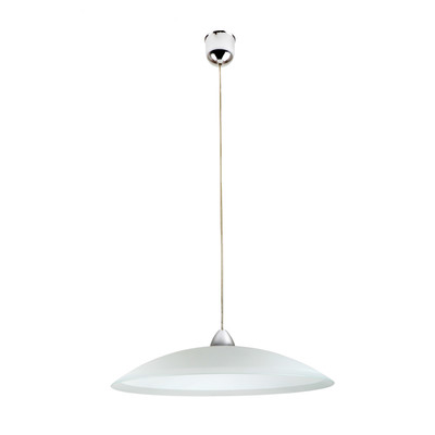 Lampadario Cerchio bianco, in vetro, diam. 40 cm, E27 MAX42W IP20