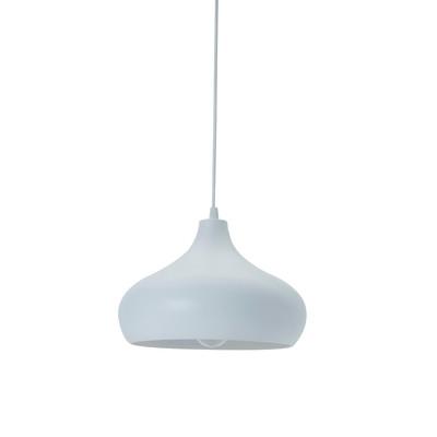 Lampadario Maria bianco, in ceramica, diam. 27 cm, E27 MAX60W IP20 LUSSIOL