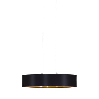 Lampadario Maserlo nero, oro, in metallo, E27 2xMAX60W IP20 EGLO