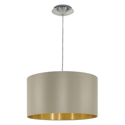 Lampadario Maserlo oro, tortora, in sintetico, diam. 38 cm, E27 MAX60W IP20 EGLO