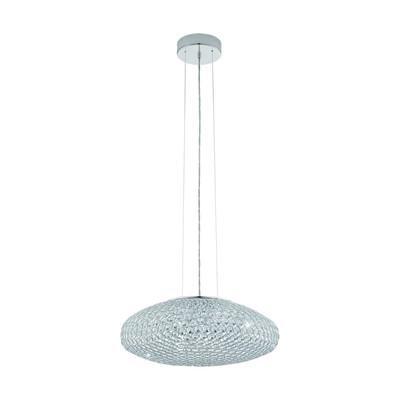 Lampadario Clemente trasparente, in cristallo, diam. 54 cm, E27 3xMAX60W IP20 EGLO