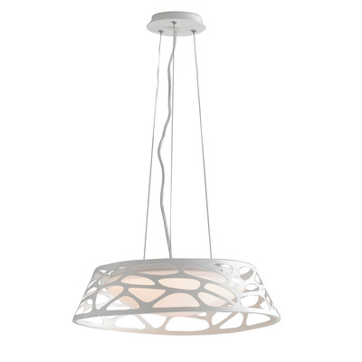 Lampadario Maui bianco, in acrilico, diam. 47 cm, LED integrato 24W 1920LM IP20