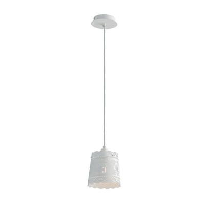 Lampadario Cluny bianco, in metallo, diam. 14 cm, E14 MAX28W IP20