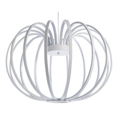 Lampadario Mercure bianco, in acrilico, diam. 52 cm, LED integrato 64W 4810LM IP20 LUSSIOL