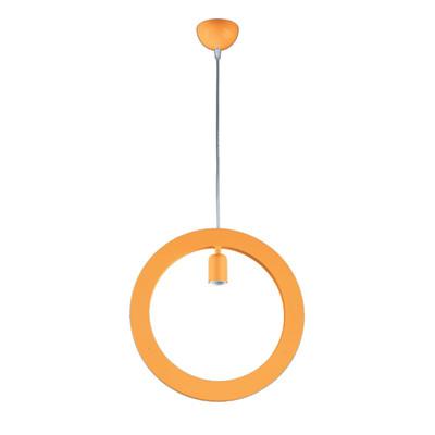 Lampadario Oblo arancione, in metallo, E27 MAX72W IP20