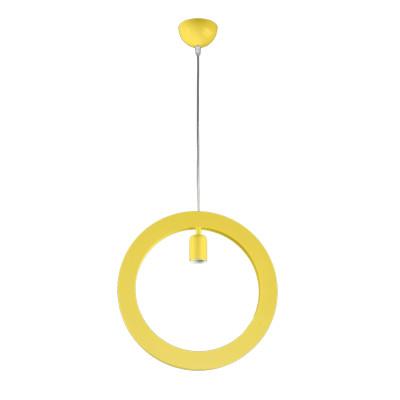 Lampadario Oblo giallo, in metallo, E27 MAX72W IP20