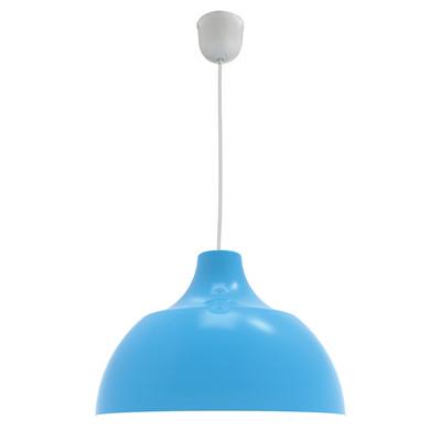 Lampadario Cono azzurro, in metallo, diam. 30 cm, E27 MAX53W IP20 LUMICOM