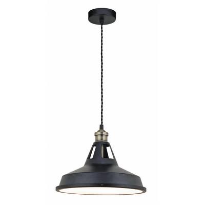 Lampadario Mineko nero, in ferro, diam. 30 cm, LED integrato 15W 1400LM IP20 INSPIRE
