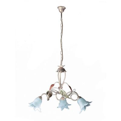 Lampadario Mirella bianco, in metallo, diam. 43 cm, E14 3xMAX40W IP20