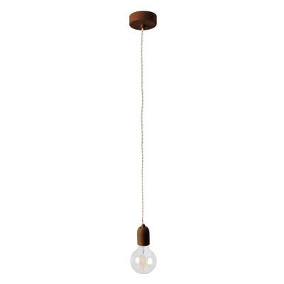 Lampadario Multy marrone, in metallo, diam. 8 cm, E27 MAX42W IP20