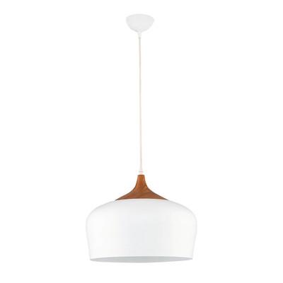 Lampadario Newz bianco, in metallo, diam. 30 cm, E27 MAX40W IP20