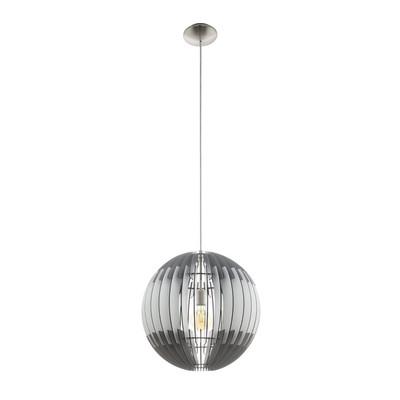 Lampadario Olmero bianco, grigio, in legno, diam. 40 cm, E27 MAX60W IP20 EGLO