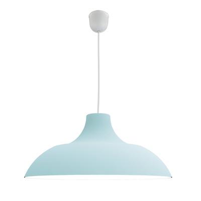 Lampadario Parigina azzurro, in metallo, diam. 40 cm, E27 MAX53W IP20 LUMICOM