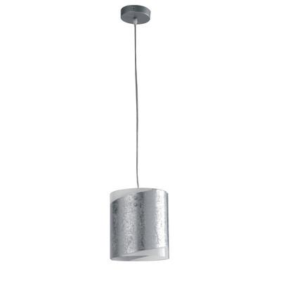 Lampadario Paris alluminio, grigio, in vetro, diam. 20 cm, E27 MAX42W IP20