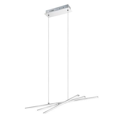 Lampadario Parri bianco, cromo, in metallo, LED integrato 8W 850LM IP20