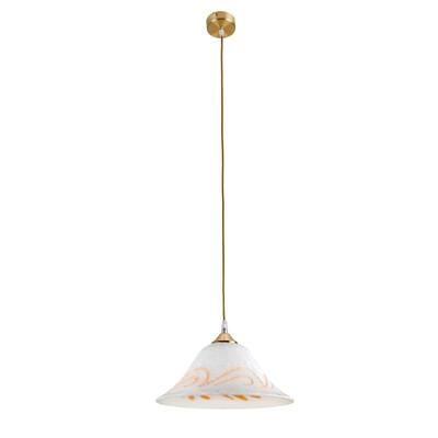Lampadario Petra bianco, in vetro, diam. 30 cm, E27 MAX42W IP20