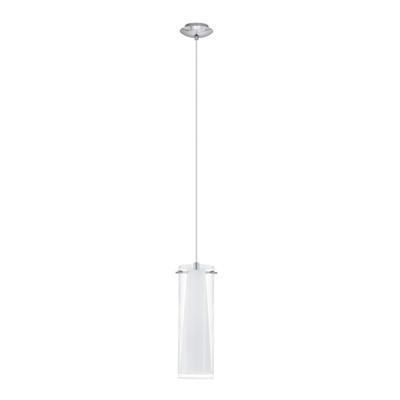 Lampadario Pinto bianco, trasparente, in vetro, diam. 11 cm, E27 MAX60W IP20 EGLO