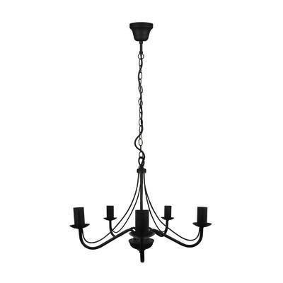 Lampadario Portola nero, in metallo, diam. 9 cm, E14 5xMAX40W IP20 INSPIRE