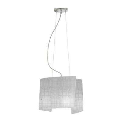 Lampadario Project bianco, in vetro, E27 2xMAX42W IP20