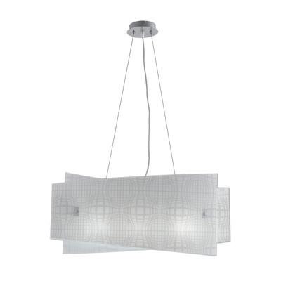 Lampadario Project bianco, trasparente, in vetro, E27 4xMAX42W IP20