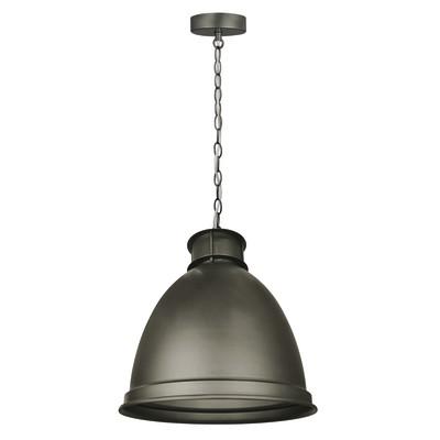 Lampadario Raina grigio, in metallo, diam. 35 cm, E27 MAX60W IP20 INSPIRE
