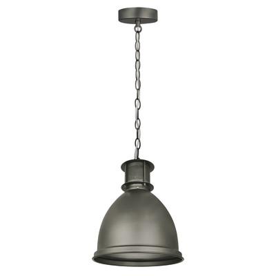 Lampadario Raina grigio, in metallo, diam. 23 cm, E27 MAX60W IP20 INSPIRE