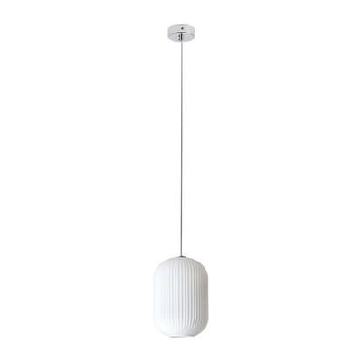 Lampadario Rebecca bianco, in vetro, diam. 24 cm, E27 MAX42W IP20