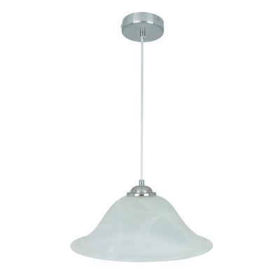 Lampadario Redding bianco, in vetro, diam. 30 cm, E27 MAX60W IP20