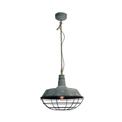 Lampadario Rope grigio, in metallo, diam. 47 cm, E27 MAX100W IP20 BRILLIANT