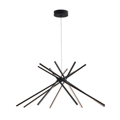 Lampadario Shanghai nero, in metallo, diam. 113 cm, LED integrato 50W 4500LM IP20