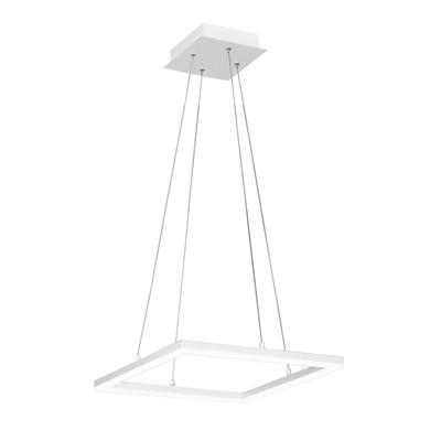 Lampadario Skyline bianco, in acrilico, LED integrato 39W 3510LM IP20