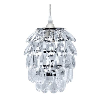 Lampadario Speridon trasparente, cromo, in vetro, diam. 16 cm, E14 MAX40W IP20