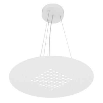 Lampadario Tab bianco, in vetro, LED integrato 18W 1700LM IP20 LUMICOM