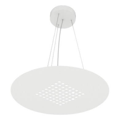 Lampadario Tab bianco, in vetro, diam. 40 cm, LED integrato 18W 18LM IP20 LUMICOM