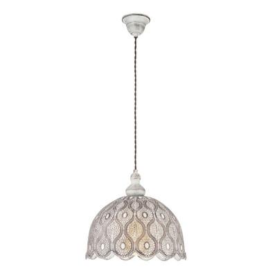 Lampadario Talbot  viola, bianco, in acciaio inossidabile, diam. 29 cm, E27 MAX60W IP20 EGLO