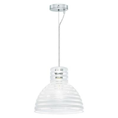 Lampadario Taro trasparente, cromo, in vetro, diam. 30 cm, E27 MAX60W IP20 INSPIRE
