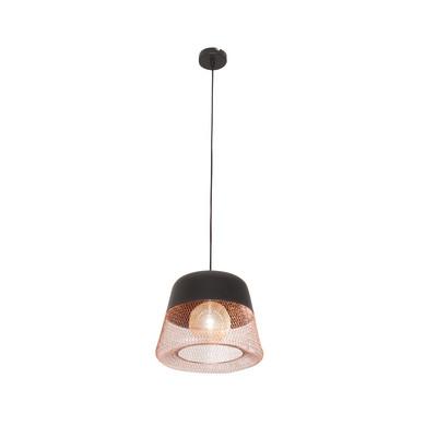 Lampadario Tofua nero, rame, in metallo, diam. 32 cm, E27 MAX60W IP20 INSPIRE