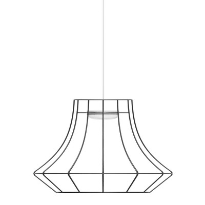 Lampadario Tubolar nero, in metallo, E27 2xMAX53W IP20 LUMICOM