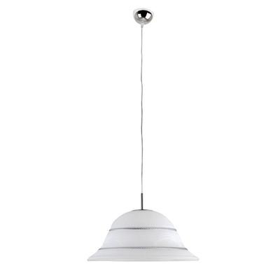 Lampadario Vesta bianco, in vetro, diam. 40 cm, E27 MAX42W IP20