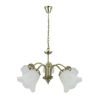 Lampadario Victoria bianco, in metallo, diam. 48 cm, E14 5xMAX40W IP20 INSPIRE