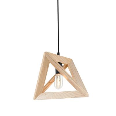 Lampadario Wood beige, in legno, E27 MAX40W IP20