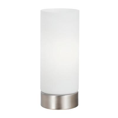 Lampada da comodino Tee touch bianco, in vetro, E27 MAX 60W IP20 INSPIRE
