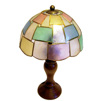 Lampada da comodino Madrep multicolore, in madreperla, E14 MAX 40W IP20
