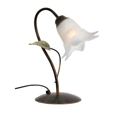 Lampada da comodino Mirella bianco, in vetro, E14 MAX 42W IP20