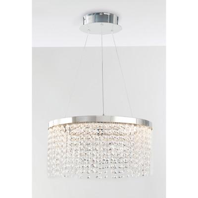 Lampadario Venus trasparente, cromo, in cristallo, diam. 45 cm, LED integrato 60W 3600LM IP20