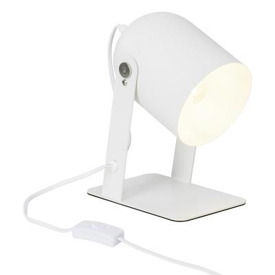 Lampada da comodino Yan bianco, in metallo, E27 MAX 40W IP20 BRILLIANT