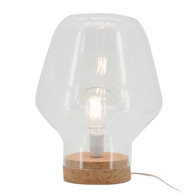 Lampada da tavolo Borg trasparente, in vetro, E27 MAX 40W IP20 LUSSIOL