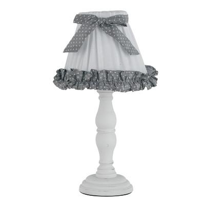 Lampada da comodino Candy-lume grigio, bianco, in tessuto, E14 MAX 28W IP20